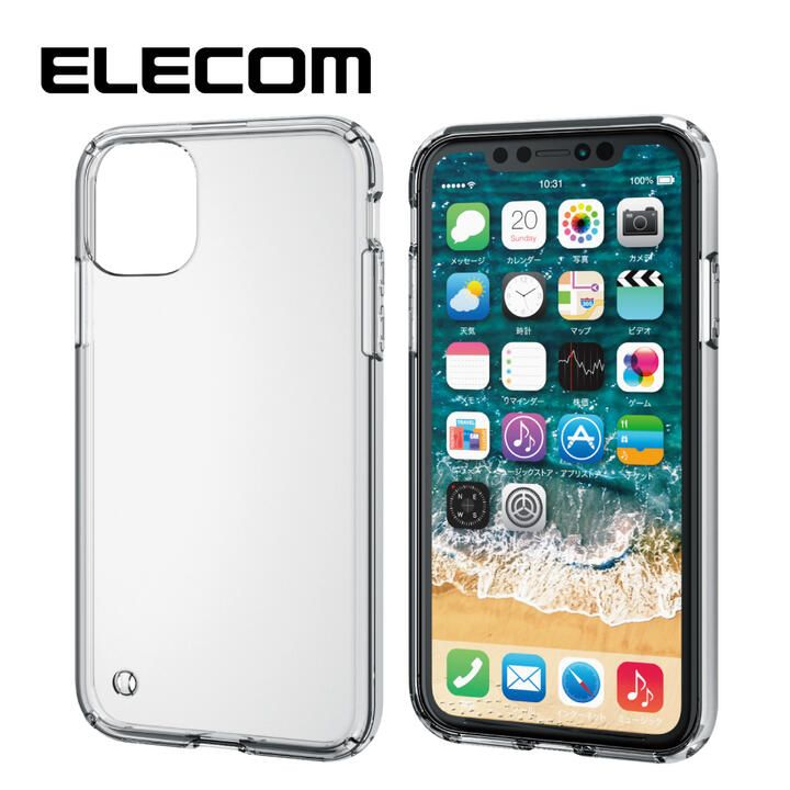 iPhone 11 ケース エレコム ハイブリッド高透明ケース クリア iPhone 11_0