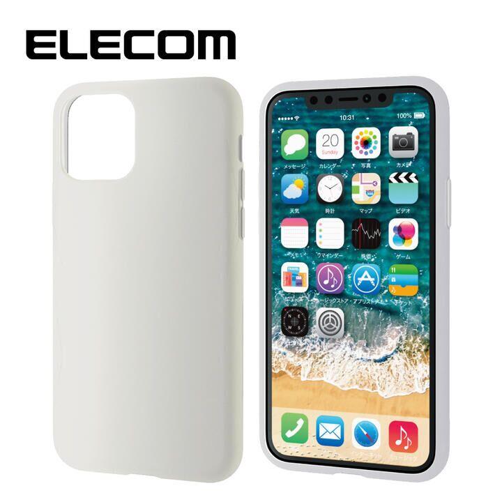 iPhone 11 Pro ケース エレコム シリコン シンプル 耐衝撃 クリア iPhone 11 Pro_0