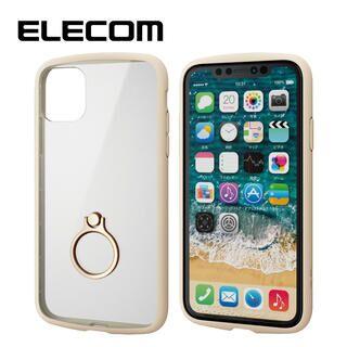 iPhone 11 ケース エレコム TOUGH SLIM LITE リング 衝撃吸収ケース アイボリー iPhone 11