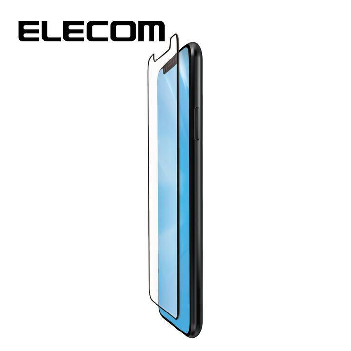 iPhone 11/XR フィルム エレコム フルカバー超耐衝撃保護フィルム BL 指紋防止 高光沢 ブラック iPhone 11/XR_0