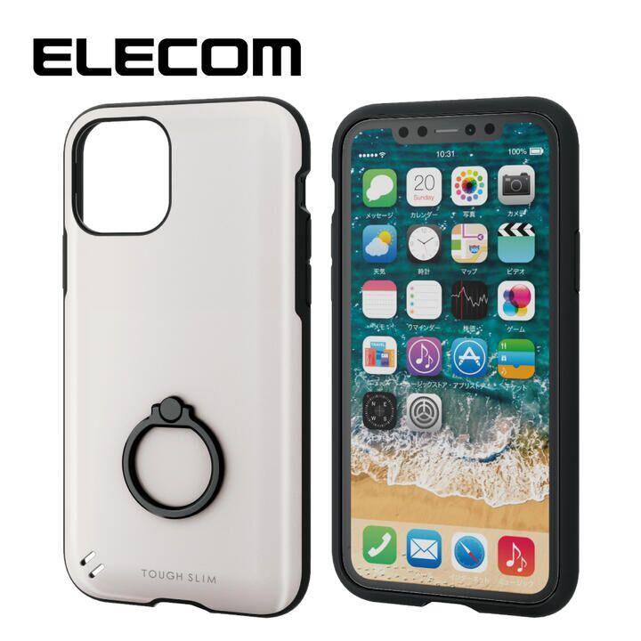 iPhone 11 Pro ケース エレコム TOUGH SLIM/リング付 衝撃吸収ケース ホワイト iPhone 11 Pro_0