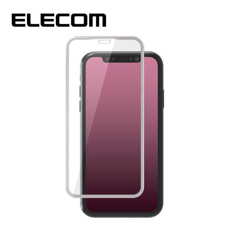 iPhone 11/XR フィルム エレコム 強化ガラス 9H全面 指紋防止 0.33mm/ホワイト iPhone 11/XR_0