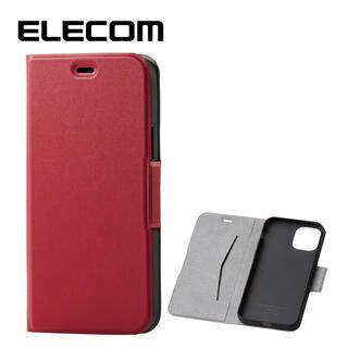 iPhone 11 Pro ケース エレコム レザー手帳型ケース 薄型・超軽量 レッド iPhone 11 Pro
