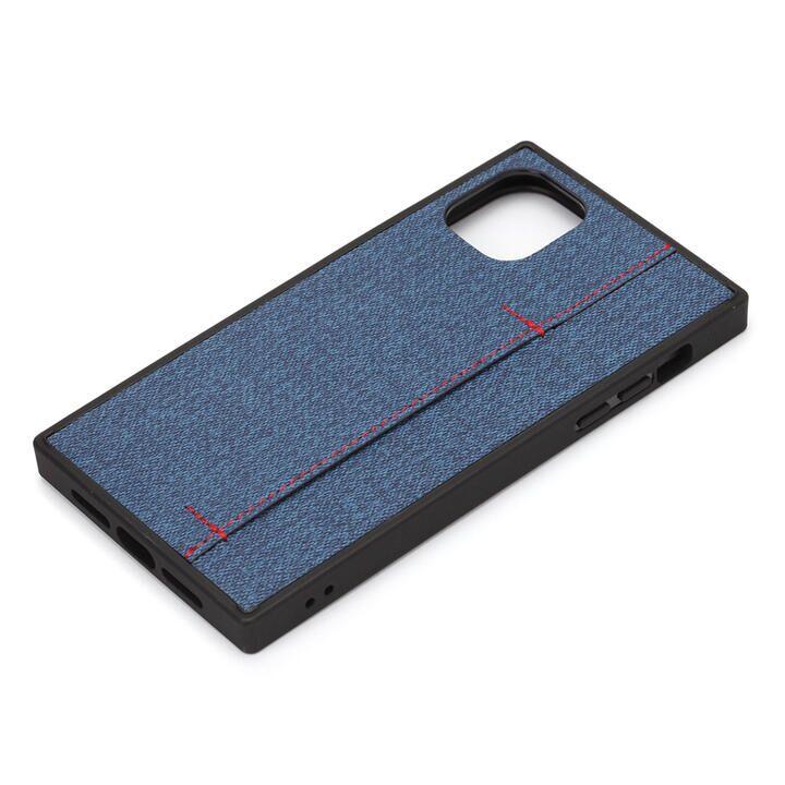 iPhone 11 Pro Max ケース テクスチャーハイブリッドケース デニム調ブルー iPhone 11 Pro Max_0