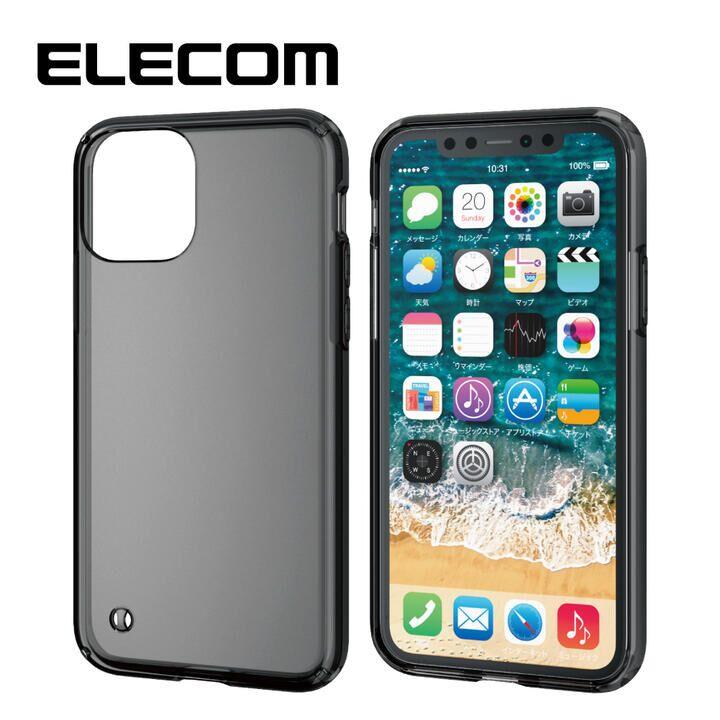 iPhone 11 Pro ケース エレコム 耐衝撃ハイブリッドケース ブラック iPhone 11 Pro_0