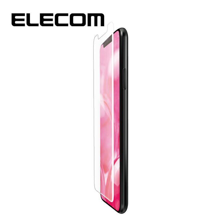 iPhone 11/XR フィルム エレコム フルカバー超耐衝撃保護フィルム 指紋防止 高光沢 ホワイト iPhone 11/XR_0