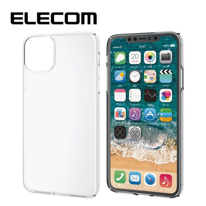 iPhone 11 Pro Max ケース エレコム 軽量 薄型 0.8mm クリアハードケース クリア iPhone 11 Pro Max_0