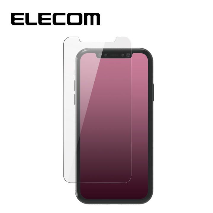 iPhone 11/XR フィルム エレコム 強化ガラス 9H 反射 / 指紋 防止 iPhone 11/XR_0