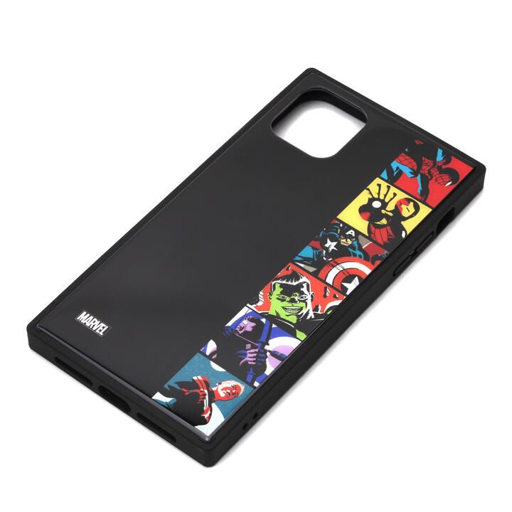 iPhone 11 Pro Max ケース MARVEL ガラスハイブリッドケース アベンジャーズ/ポップアート iPhone 11 Pro Max_0
