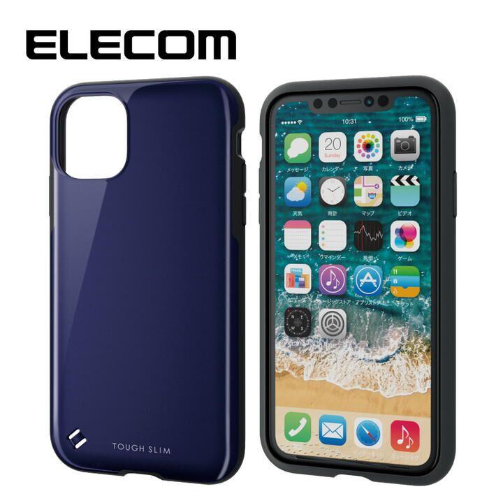 iPhone 11 ケース エレコム TOUGH SLIM 衝撃吸収ケース ネイビー iPhone 11_0