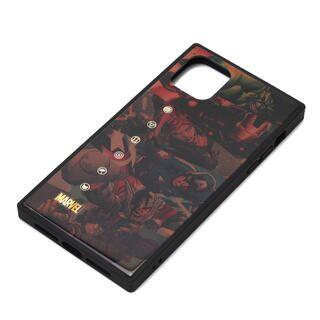 iPhone 11 Pro Max ケース MARVEL ガラスハイブリッドケース アベンジャーズ/ブラウン iPhone 11 Pro Max