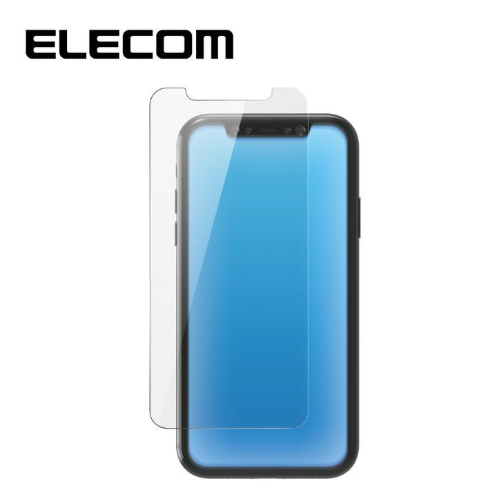 iPhone XR フィルム エレコム 保護フィルム ガラスライク 極薄 0.2mm BL 指紋防止 高光沢 iPhone 11/XR_0