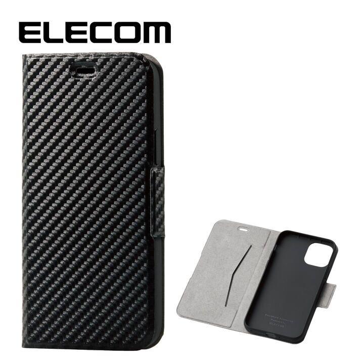 iPhone 11 Pro ケース エレコム レザー手帳型ケース 薄型・超軽量 カーボン調(ブラック) iPhone 11 Pro_0