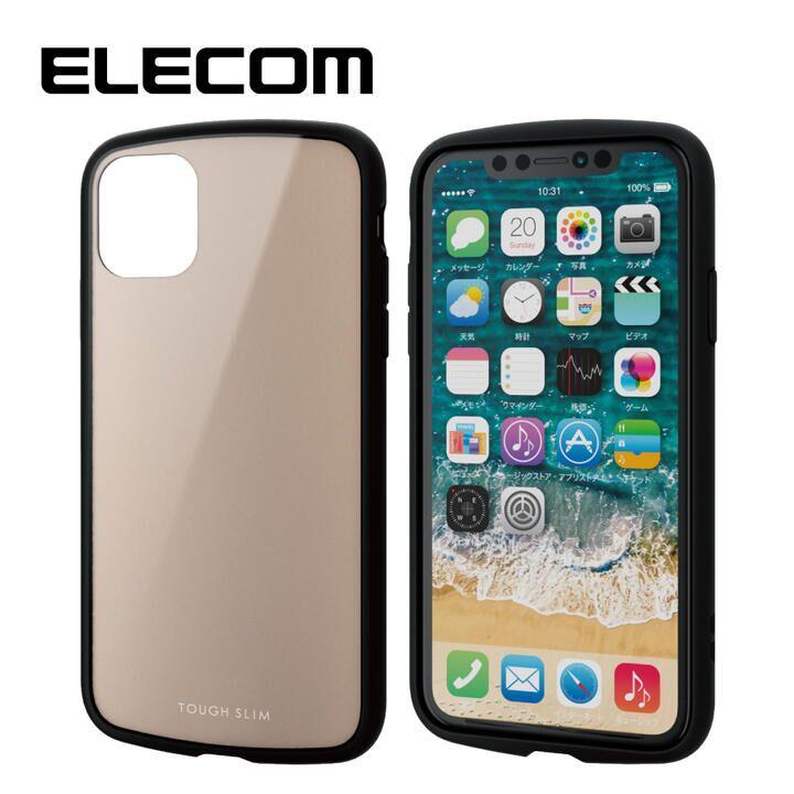 iPhone 11 ケース エレコム TOUGH SLIM LITE 衝撃吸収ケース ベージュ iPhone 11_0