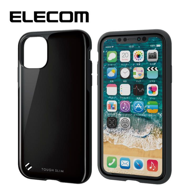 iPhone 11 ケース エレコム TOUGH SLIM 衝撃吸収ケース ブラック iPhone 11_0
