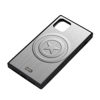 iPhone 11 ケース MARVEL ガラスハイブリッドケース キャプテン・アメリカ/シルバー iPhone 11
