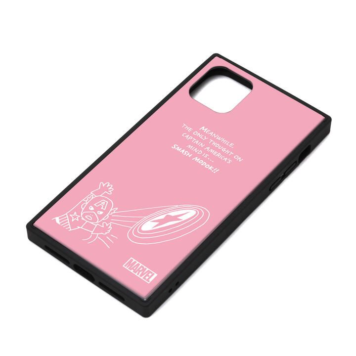 iPhone 11 ケース MARVEL ガラスハイブリッドケース キャプテン・アメリカ/ピンク iPhone 11_0