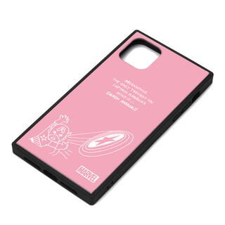 iPhone 11 Pro Max ケース MARVEL ガラスハイブリッドケース キャプテン・アメリカ/ピンク iPhone 11 Pro Max