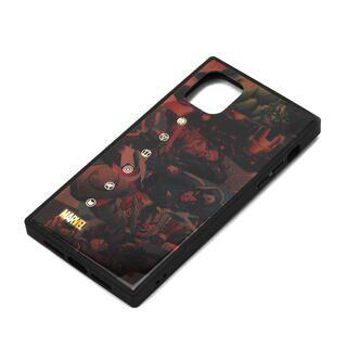 iPhone 11 ケース MARVEL ガラスハイブリッドケース アベンジャーズ/ブラウン iPhone 11