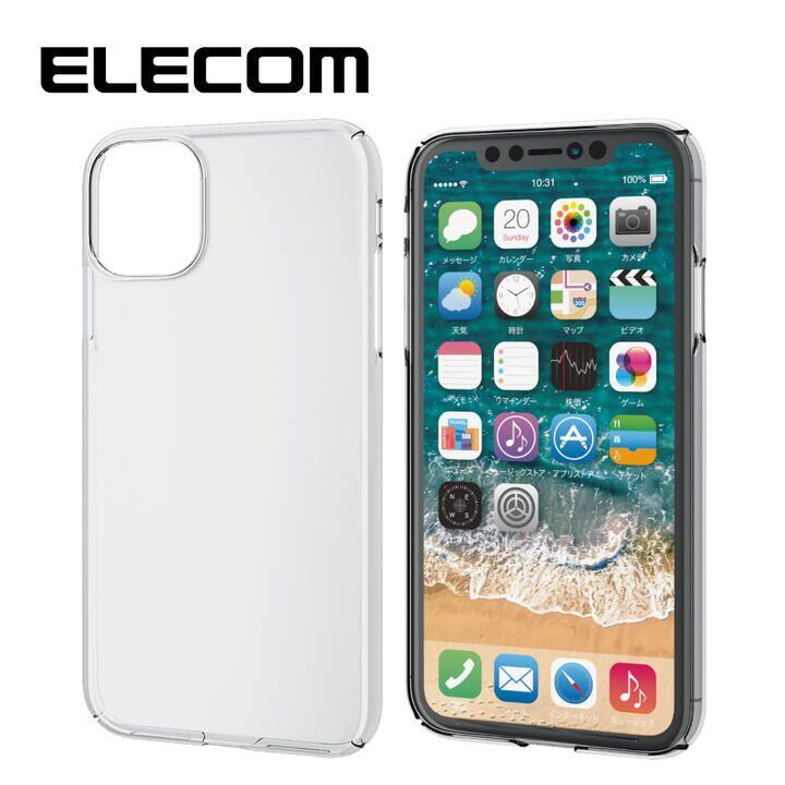 iPhone 11 ケース エレコム 軽量 薄型 0.8mm クリアハードケース クリア iPhone 11_0