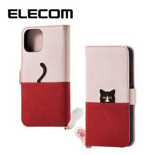iPhone 11 Pro ケース エレコム ネコ手帳型TPUケース ピンク×ブラウン iPhone 11 Pro
