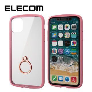iPhone 11 ケース エレコム TOUGH SLIM LITE リング 衝撃吸収ケース ピンク iPhone 11