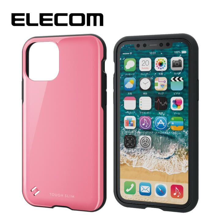 iPhone 11 Pro ケース エレコム TOUGH SLIM 衝撃吸収ケース ピンク iPhone 11 Pro_0