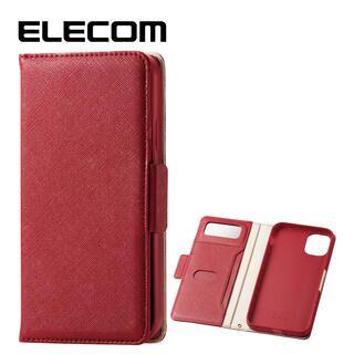 iPhone 11 ケース エレコム ミラー付き ICカード収納 手帳型ケース レッド iPhone 11