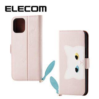 iPhone 11 Pro ケース エレコム おしゃれ ネコ手帳型TPUケース ピンク iPhone 11 Pro