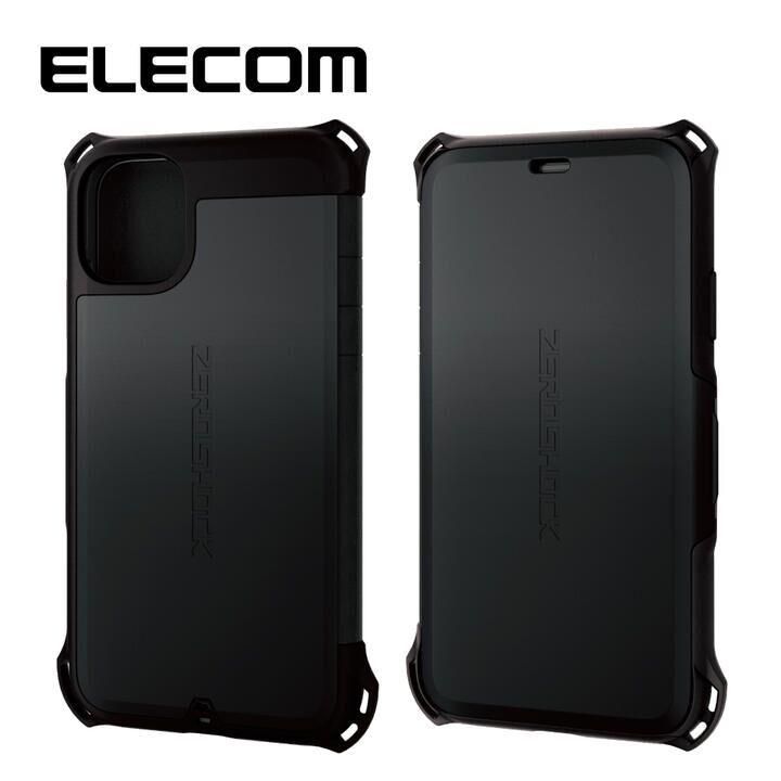 iPhone 11 ケース エレコム 手帳型 衝撃吸収 SIM カード / ピン収納 ブラック iPhone 11_0