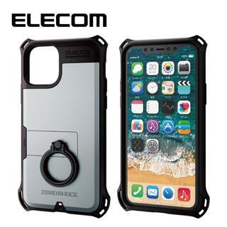 iPhone 11 Pro ケース エレコム リング付き ZEROSHOCK 超耐衝撃ケース シルバー iPhone 11 Pro
