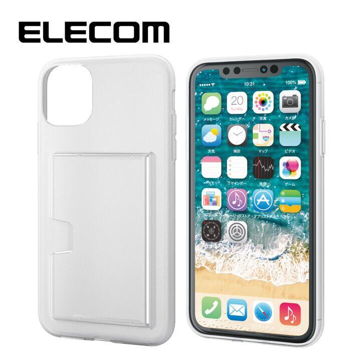 iPhone 11 ケース エレコム TPUシンプルソフトケース カード収納 クリア iPhone 11_0