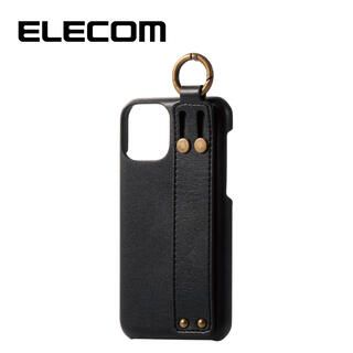 iPhone 11 Pro ケース エレコム ベルト付 レザー スタンド ポリカーボネートケース ネロ iPhone 11 Pro