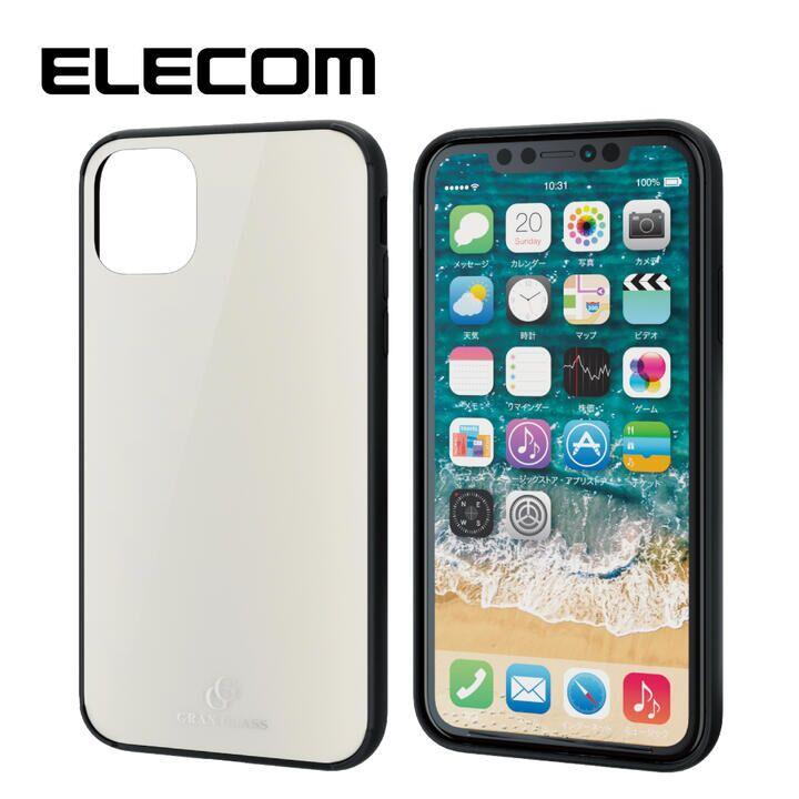 iPhone 11 ケース エレコム ハイブリッド/ガラスケース ホワイト iPhone 11_0