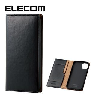iPhone 11 ケース エレコム レザー手帳型 CORONET 耐衝撃 カード収納 ネロ iPhone 11