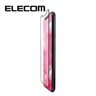 iPhone 11/XR フィルム エレコム フルカバー超耐衝撃保護フィルム 指紋防止 高光沢 ブラック iPhone 11/XR