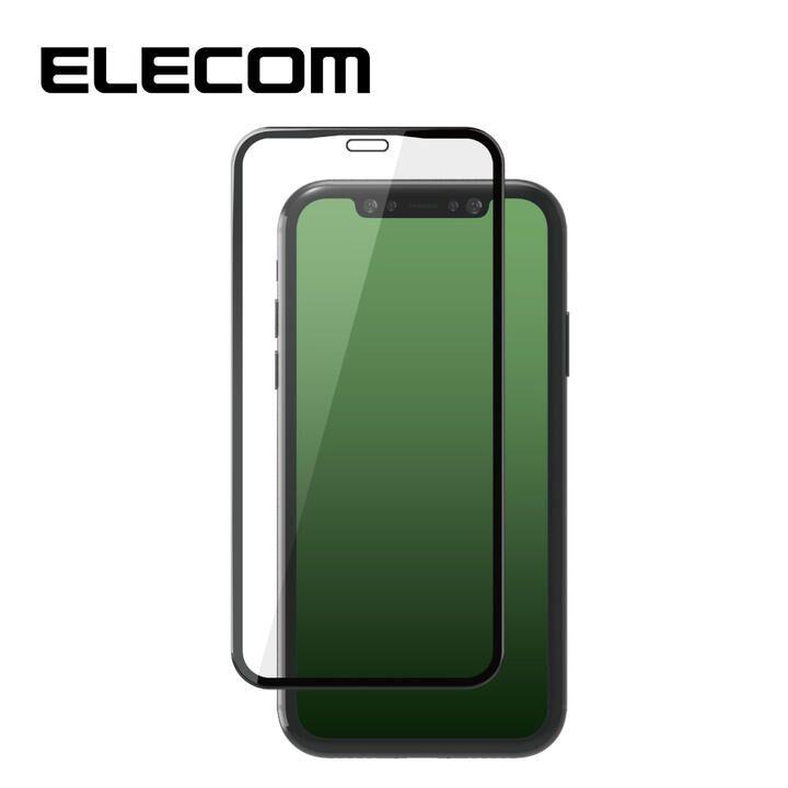 iPhone 11 Pro Max フィルム エレコム 強化ガラス 9H全面 指紋防止 フレーム セラミックコート iPhone 11 Pro Max/XS Max_0
