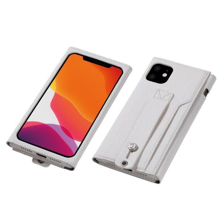 iPhone 11 ケース clings Slim Hand Strap Case ホワイト iPhone 11_0