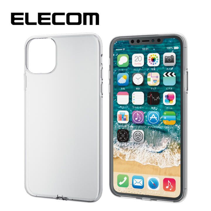 iPhone 11 Pro Max ケース エレコム TPUクリアケース クリア iPhone 11 Pro Max_0