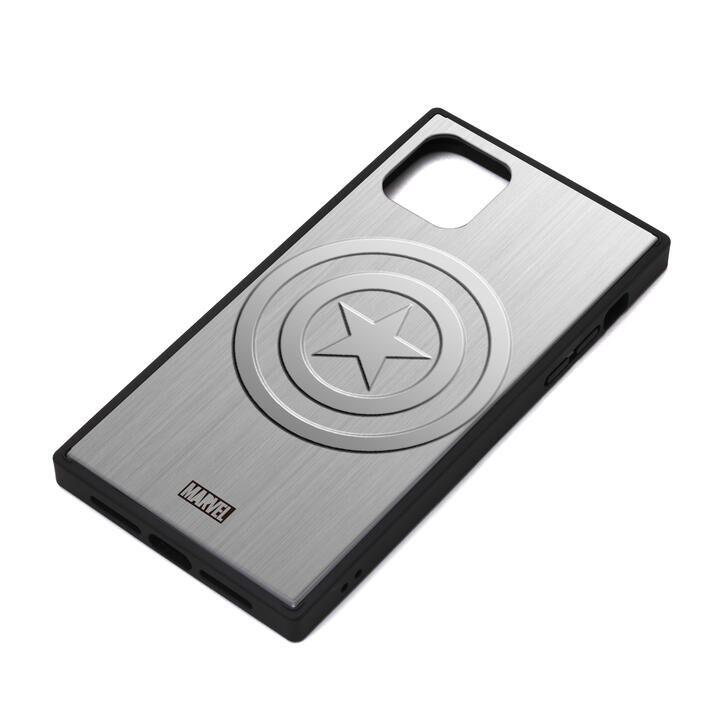 iPhone 11 ケース MARVEL ガラスハイブリッドケース キャプテン・アメリカ/シルバー iPhone 11_0