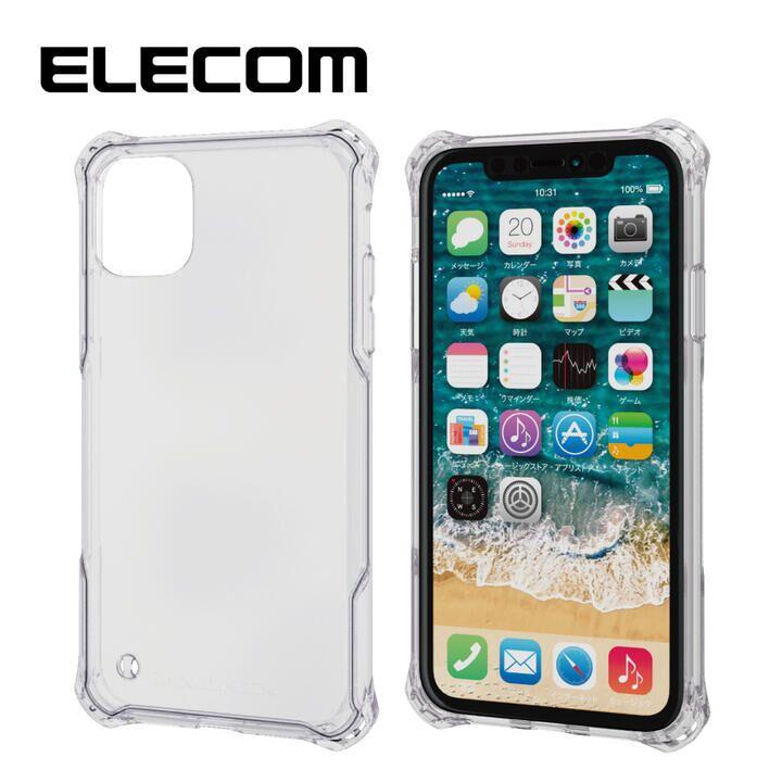iPhone 11 ケース エレコム ZEROSHOCK 耐衝撃クリアケース クリア iPhone 11_0
