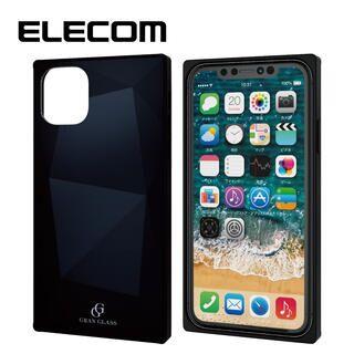 iPhone 11 ケース エレコム スクエア ガラス TPU ハイブリッドケース ブラック2 iPhone 11