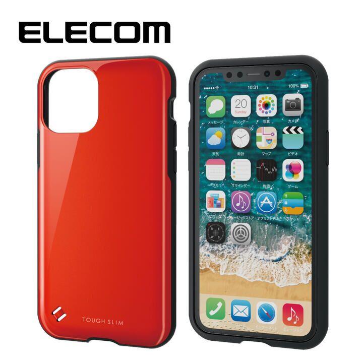 iPhone 11 Pro ケース エレコム TOUGH SLIM 衝撃吸収ケース レッド iPhone 11 Pro_0
