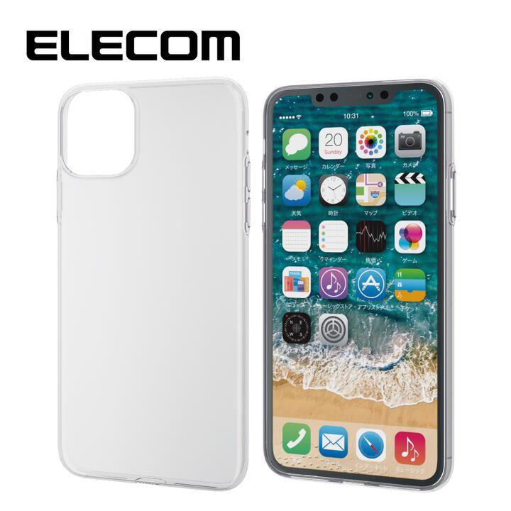 iPhone 11 Pro Max ケース エレコム ソフトクリアTPU薄型ケース 0.7mm クリア iPhone 11 Pro Max_0