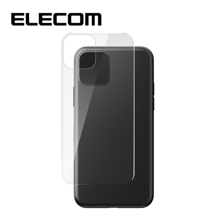 iPhone 11 Pro/XS フィルム エレコム 背面強化ガラス 9H 指紋防止 気泡ゼロ iPhone 11 Pro/X/XS_0