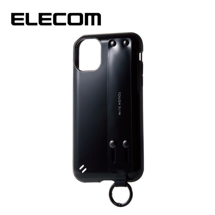 iPhone 11 ケース エレコム ベルト付き TOUGH SLIM 耐衝撃ケース ブラック iPhone 11_0