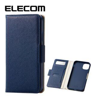 iPhone 11 ケース エレコム ミラー付き ICカード収納 手帳型ケース ネイビー iPhone 11