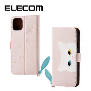 iPhone 11 ケース エレコム おしゃれ ネコ手帳型TPUケース ピンク iPhone 11