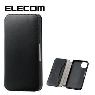 iPhone 11 Pro Max ケース エレコム NEUTZ レザー手帳型ケース  耐衝撃 カード収納 ブラック iPhone 11 Pro Max