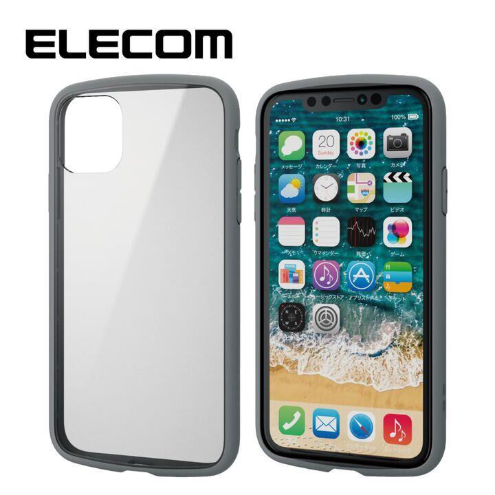 iPhone 11 ケース エレコム TOUGH SLIM LITE 衝撃吸収ケース クリアグレー iPhone 11_0